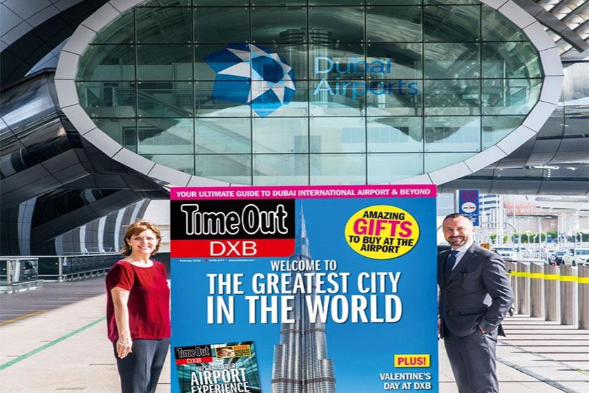 برند رسانه ای تایم اوت DXB برای فرودگاه دبی