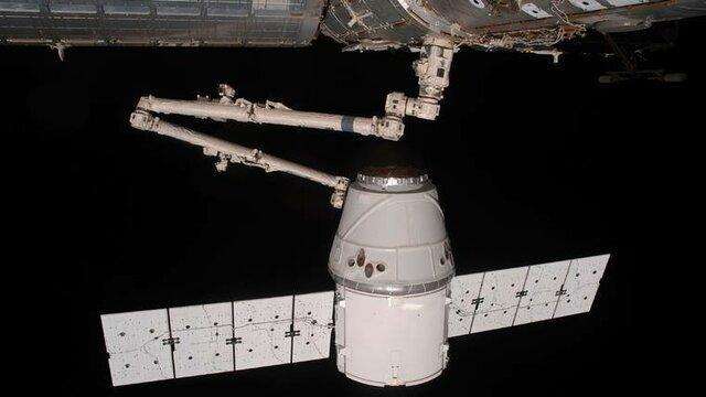 دراگون از ایستگاه فضایی بین المللی جدا شد