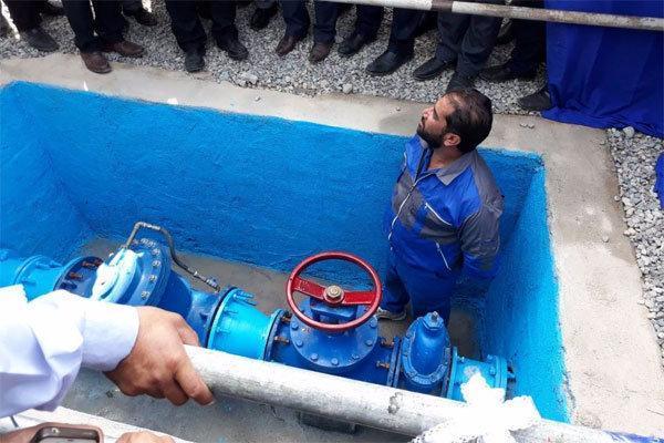 افتتاح پروژه آبرسانی در روستای شور قاضی ایوان کی