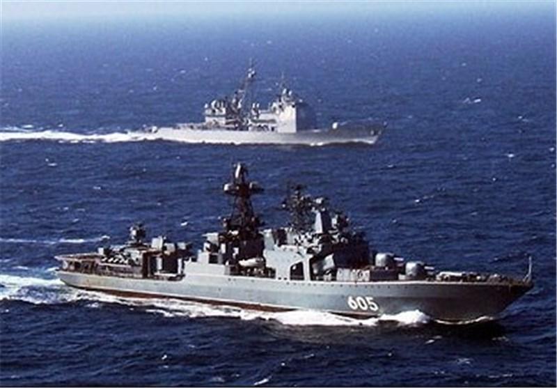 شروع رزمایش مشترک ناوهای جنگی روسیه و چین در دریای مدیترانه