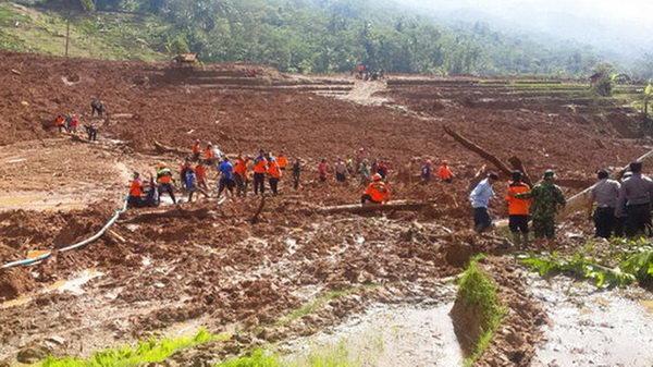رانش زمین در اندونزی قربانی گرفت