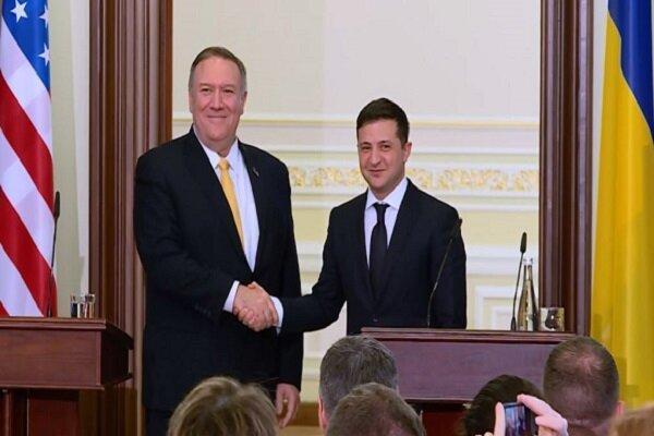 پمپئو درباره حمایت همیشگی آمریکا از اوکراین تضمین داد