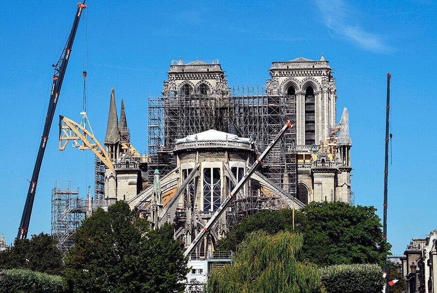 کرونا پروژه بازسازی نوتردام را متوقف کرد