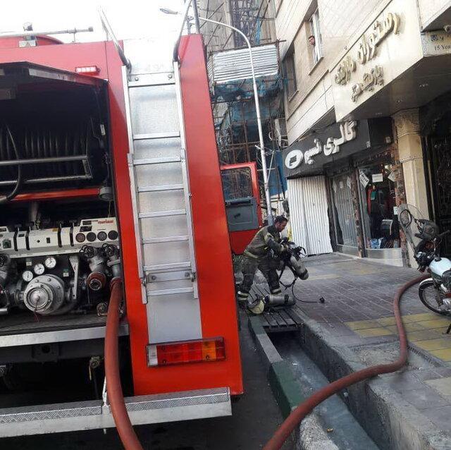 حریق یک مغازه در بازار تهران ، حادثه مصدوم نداشت