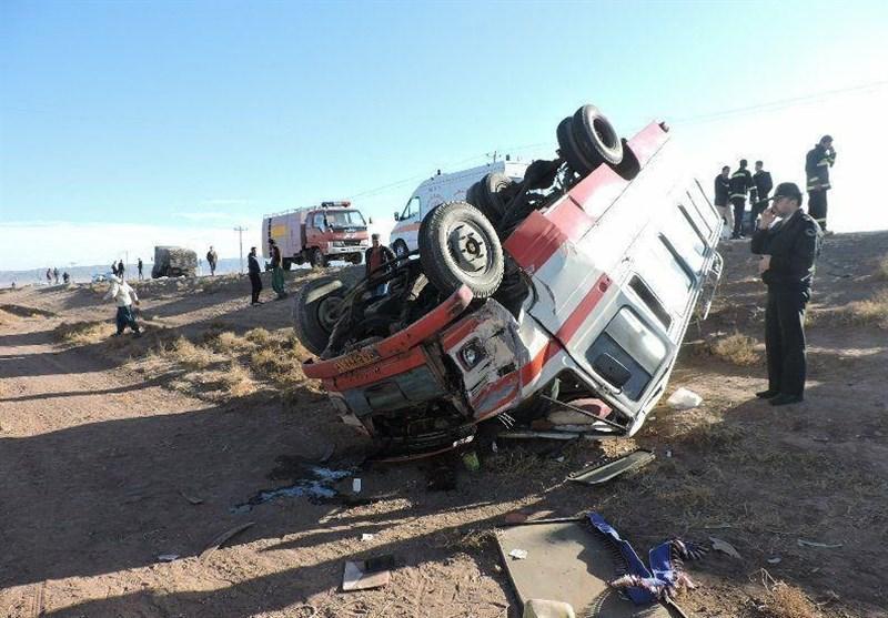 6 کشته و 7 مجروح در واژگونی اتوبوس مسافربری