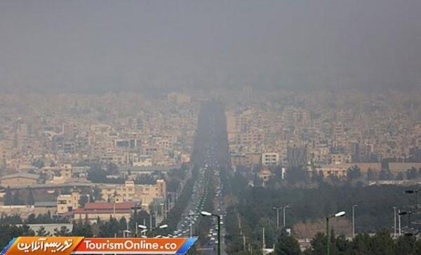 شاخص آلودگی هوای مشهد قرمز شد