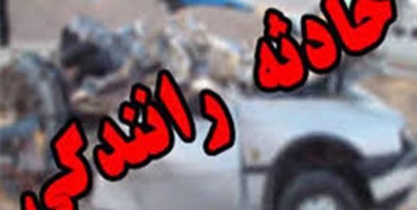 تصادف زنجیره ای در جاده خاوران به دلیل فیلمبرداری از صحنه حادثه