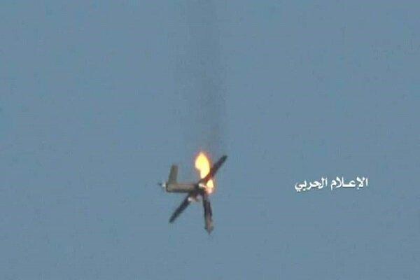 پهپاد متجاوز سعودی با موشک مناسب هدف نهاده شد و سرنگون شد