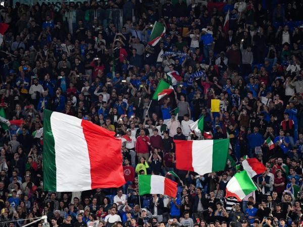 خبرنگاران دیدارهای یورو 2020 به میزبانی رم با حضور طرفداران برگزار می گردد