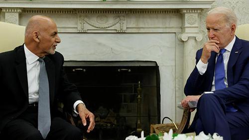 دیدار غنی و بایدن برای امنیت افغانستان