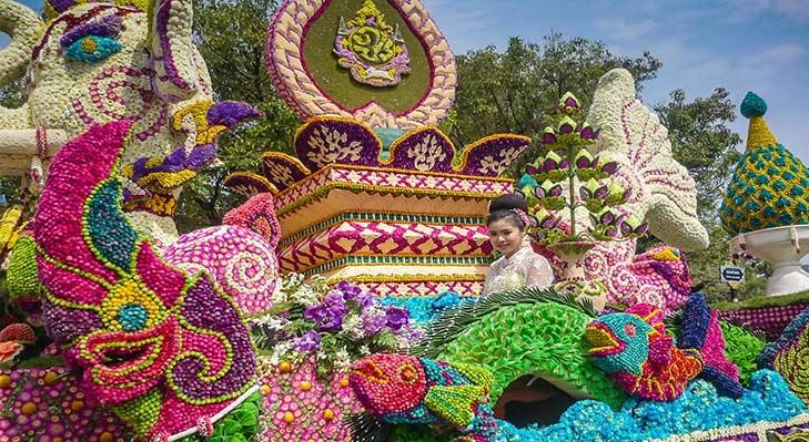 زمان برگزاری جشن گل تایلند